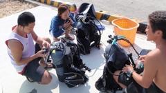沖永良部島でダイビングスクール講習