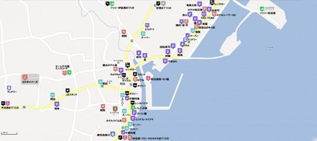 和泊町中心街略図