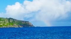 田皆岬と虹