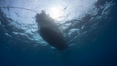水面のボート