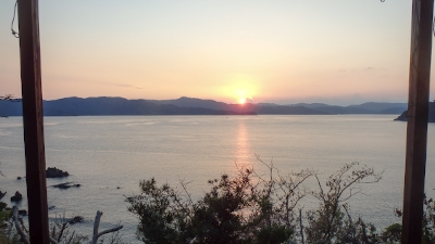 2大島海峡の夕日