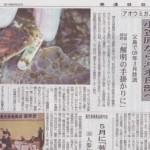 ウミガメのタグ発見が新聞に掲載