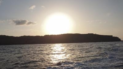 田皆岬と夕日